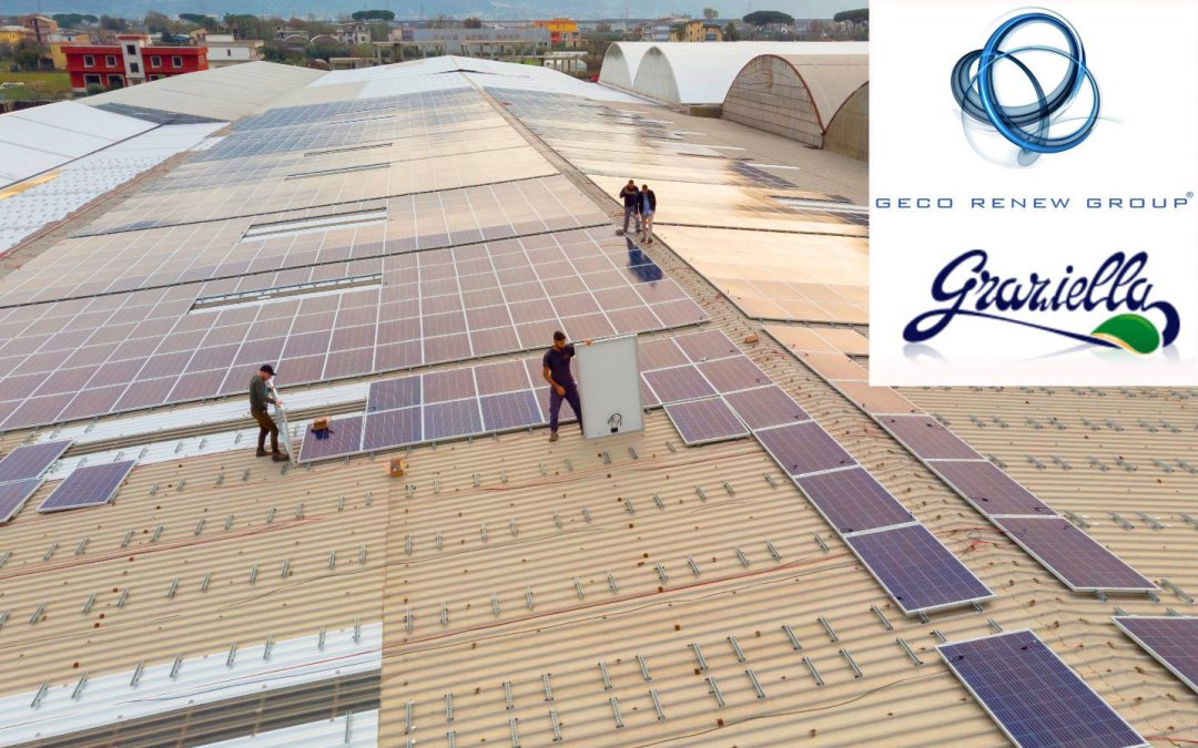 Impianto fotovoltaico a Salerno per Graziella S.p.a. con il partner Geco Renews Group