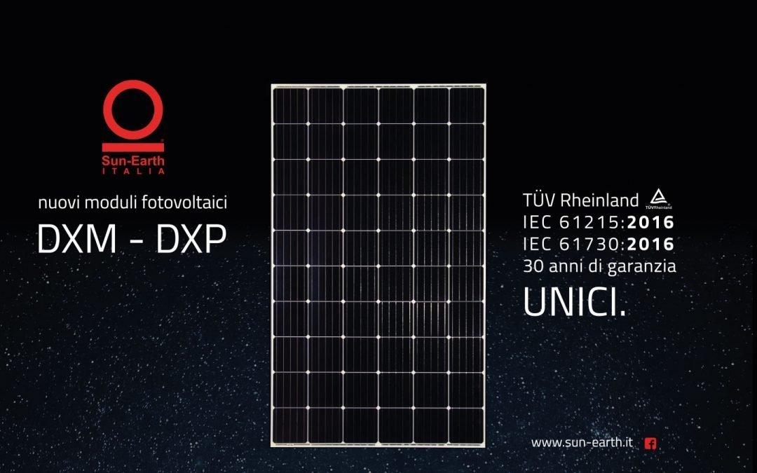I nuovi Moduli FV DXM e DXP, gli unici con Certificazione TÜV Rheinland con IEC 61215 / 61730: 2016