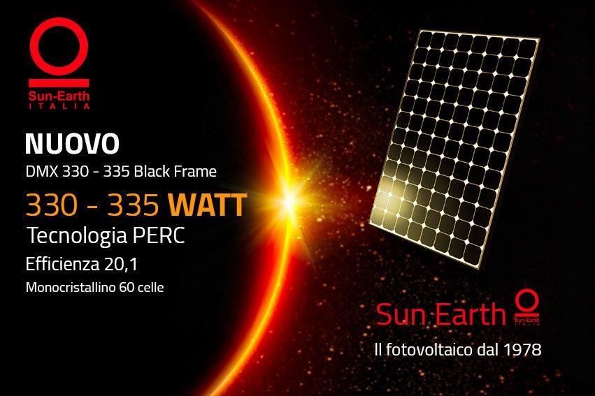 Sun Earth lancia i suoi nuovi pannelli solari DMX6-60P/BF 330W-335W